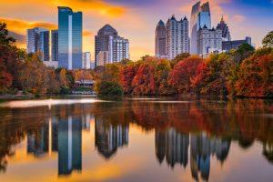 Beautiful skyline in Atlanta Georgia