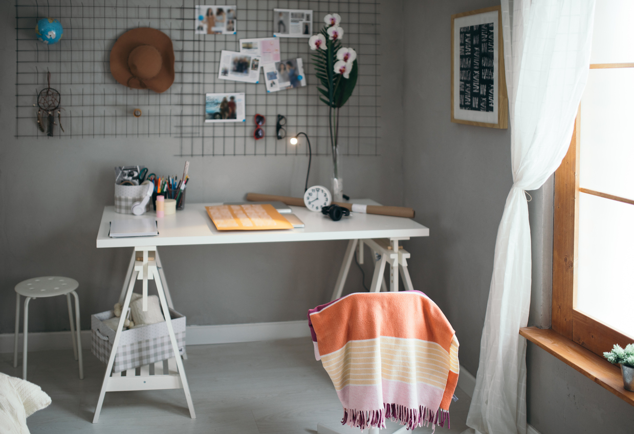 a cozy study space